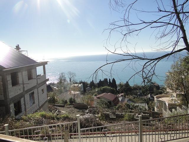участок в Сочи с панорамой моря